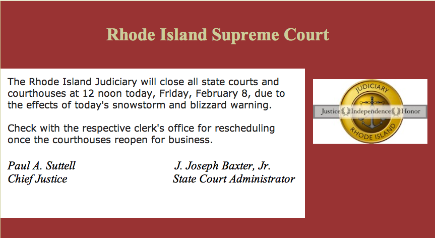 Rhode island divorce tips by attorney chris pearsall court closures rhode island state courts close today friday february 8 2013 at noon solutioingenieria Image collections